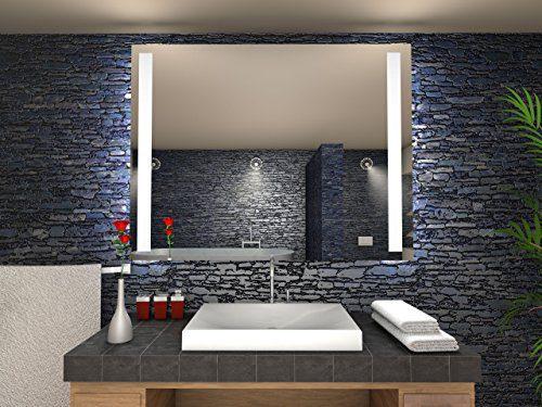 Paris Badspiegel mit LED Beleuchtung - B: 80 cm x H: 60 cm