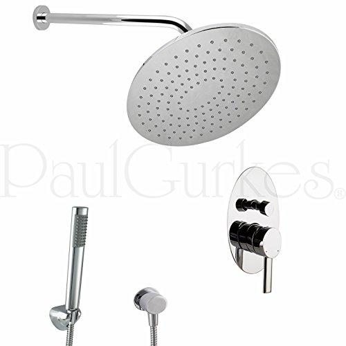 PaulGurkes Design Regendusche Komplettset oval Unterputz Duschset
