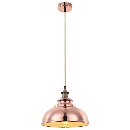 Pendel Decken Hänge Leuchte Beleuchtung Kupferfarbig Esstisch Industrie Design Globo 15083