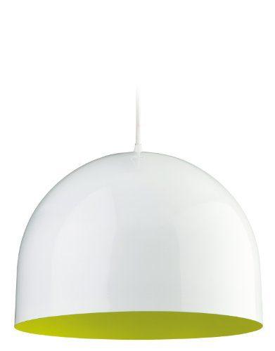 Pendelleuchte 1-flammig House Farbe (Schirm): Weiß / Grün