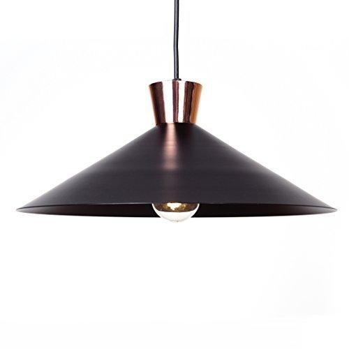 Pendelleuchte im modernen Design, 1x E27 max. 60W, Metall, Schwarz / Kupfer