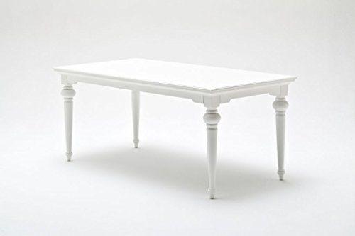 Provence Landhausmöbel Esstisch 180 cm weiß Landhaus Barock