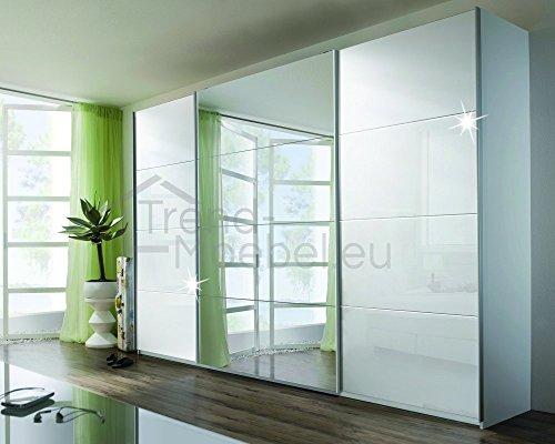 schwebet renschrank soft plus smart typ 41 150 x 194 x 42cm wei wei hochglanz spiegel. Black Bedroom Furniture Sets. Home Design Ideas