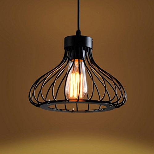 Retro metall pendelleuchte hngeleuchte kfig vintage industrie deckenlampe antike cage - Antike esszimmertische ...