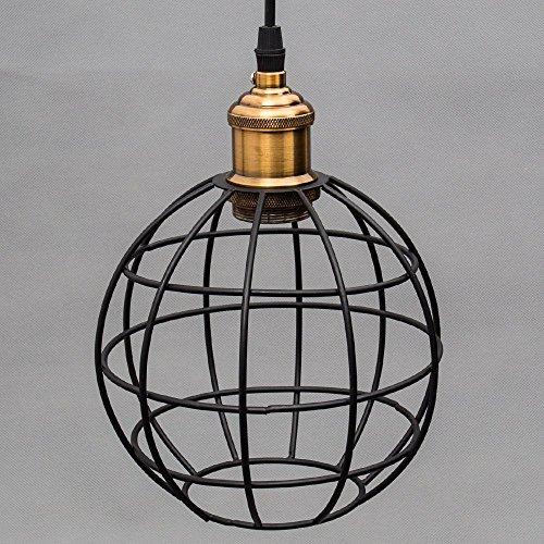 Retro Vintage Industrial Pendelleuchte Hängeleuchte aus Metall Globo Form E27 Fassung Max 60W