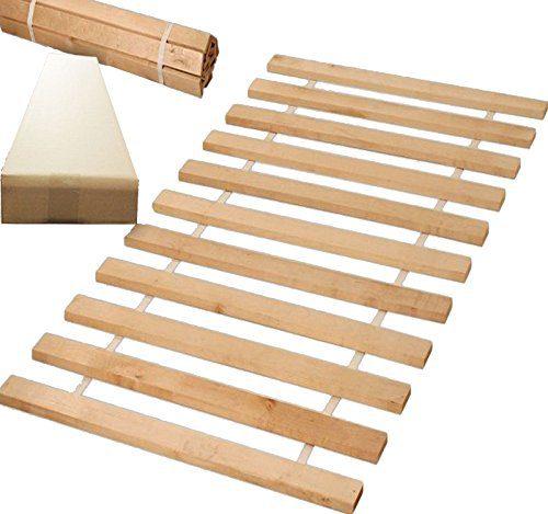 Rollrost 90x200 (10 Leisten auf 2 meter verteillt) nicht verstellbar unverstellbar Fichtenholz Rolllattenrost geeignet für Kinderbetten