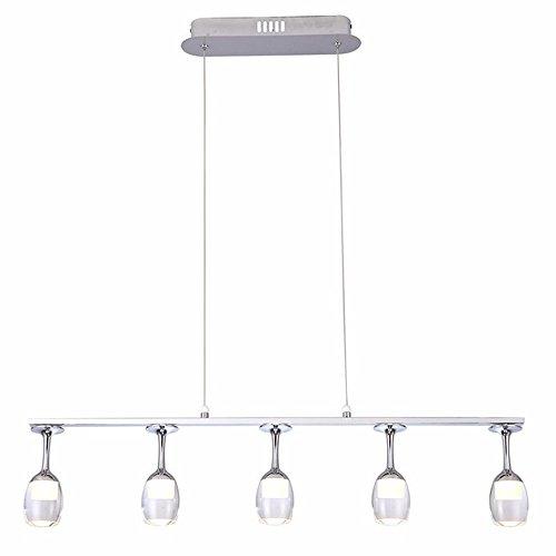 SAILUN 25W LED Kronleuchter Pendelleuchten Pendellampe Warmweiß für Esszimmer Küche Wohnzimmer Deckenleuchte Hängeleuchte Pendel Lampe (B Type Warmweiß)