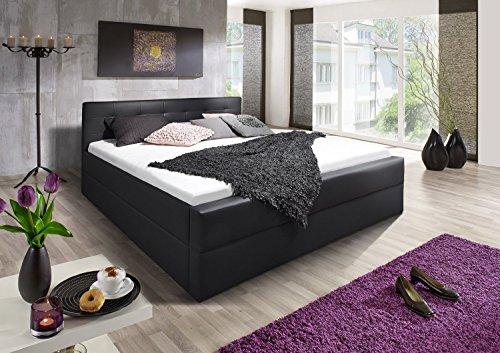 sam boxspringbett 180 x 200 cm kappa in schwarz m bel24. Black Bedroom Furniture Sets. Home Design Ideas