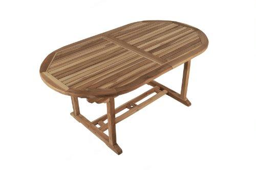 sam garten tisch aruba xl gartenm bel aus teak holz auszieh tisch 180 240 cm mit. Black Bedroom Furniture Sets. Home Design Ideas