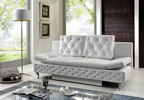 SAM® Schlafsofa Roxy in weiß inklusive 2 Sofakissen