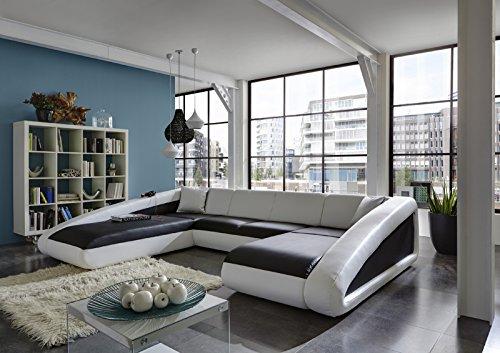 Sam sofa garnitur schwarz wei wei ciao for Couchlandschaft xxl