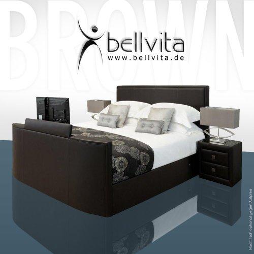 SONDERAKTION! bellvita LUXUS Wasserbett Mesamoll II mit ECHTLEDER-Bettrahmen und versenkbarem Flatscreen TV inkl. Montage (chocolate dunkelbraun, 180cm x 200cm)