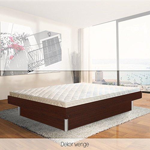 SONDERAKTION bellvita Mesamoll II Wasserbett inkl. Lieferung und Aufbau durch Fachpersonal in Komforthöhe und Bettrahmen, wenge, 180 cm x 220 cm