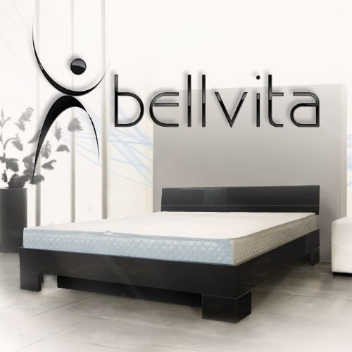 sonderaktion bellvita wasserbett mit hochglanz bettrahmen schwarz mit aufbau 200 cm x 220 cm. Black Bedroom Furniture Sets. Home Design Ideas