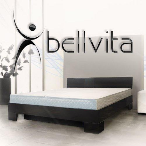 SONDERAKTION bellvita Wasserbett mit Hochglanz-Bettrahmen schwarz mit Aufbau, 200 cm x 220 cm