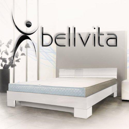 SONDERAKTION bellvita Wasserbett mit Hochglanz-Bettrahmen weiß mit Aufbau, 180 cm x 200 cm