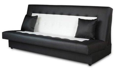 Schlafsofa funktionssofa sofa bett incl kissen schwarz for Schlafsofa xxl mit bettkasten