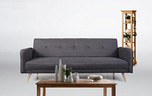 Schlafsofa Oslo Stoff Fuscous Grau Sofa Couch Wohnlandschaft