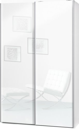 schwebet renschrank soft plus smart typ 40 120 x 194 x 42cm wei 2 x wei hochglanz m bel24. Black Bedroom Furniture Sets. Home Design Ideas