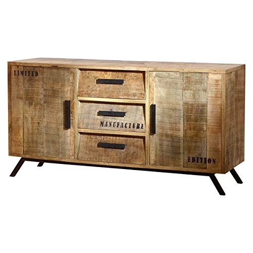 sideboard anrichte kommode fureso recyclingholz massivholz bunt breite 120 cm tiefe 45 cm. Black Bedroom Furniture Sets. Home Design Ideas