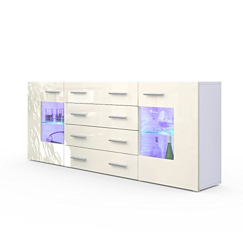kommode sideboard lissabon in wei creme hochglanz m bel24. Black Bedroom Furniture Sets. Home Design Ideas
