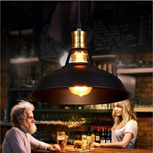 Signstek E27 Industrial höhenverstellbar Industrielampe Hängeleuchte mit Metallschirm (Dome Shade)