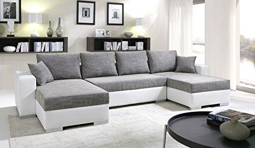 xxl stoff sofa mega wohnlandschaft matera u form stoffsofa. Black Bedroom Furniture Sets. Home Design Ideas