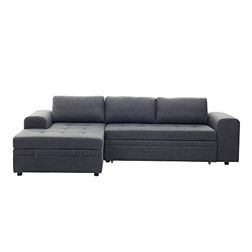 Sofa dunkelgrau schlafsofa mit bettkasten ecksofa for Schlafsofa xxl mit bettkasten