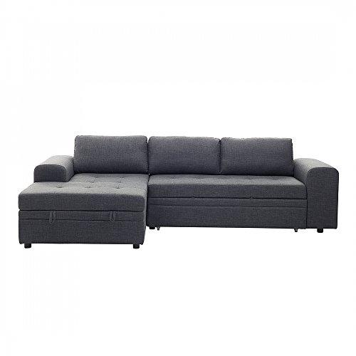 sofa dunkelgrau schlafsofa mit bettkasten ecksofa. Black Bedroom Furniture Sets. Home Design Ideas