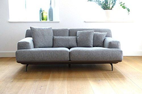 sofa lendum 2er grau webstoff big xxl couch garnitur 4 kissen modernes design stoff m bel24. Black Bedroom Furniture Sets. Home Design Ideas