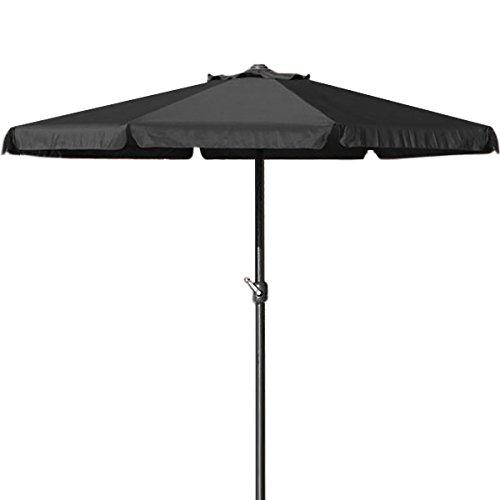 Sonnenschirm 350cm - Kurbelschirm Ampelschirm Marktschirm Gartenschirm schwarz