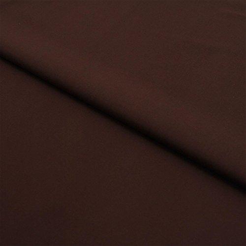 Stoff Meterware, Uni, einfarbig, Baumwolle Linon, Bekleidungsstoff, Dekostoff, Nähen, Schneidern | Braun