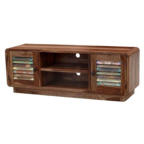 tv board lowboard sheesham massivholz braun bunt breite 140 cm tiefe 40 cm hhe 50 cm 0 m bel24. Black Bedroom Furniture Sets. Home Design Ideas