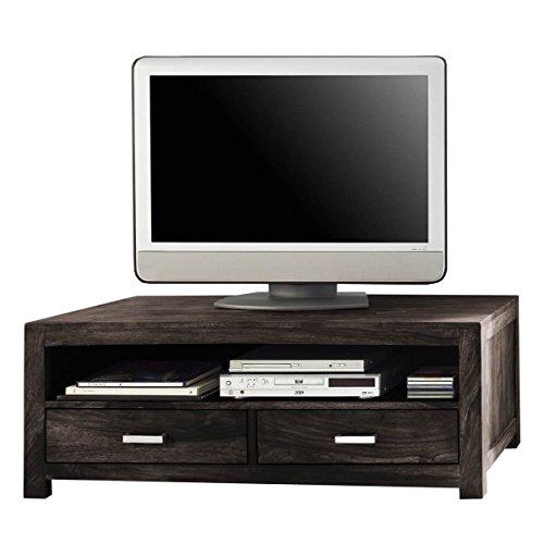 TV Board Lowboard Wima, Massivholz Holz Sheesham Massiv Stone, Breite 120 cm, Tiefe 55 cm, Höhe 45 cm