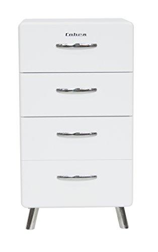 Tenzo 4914-001 Cobra Designer Kommode, 92 x 56 x 43 cm, MDF lackiert, weiß