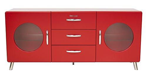 Tenzo 4933-028 Cobra Designer Sideboard, 73 x 163 x 43 cm, MDF lackiert, rot