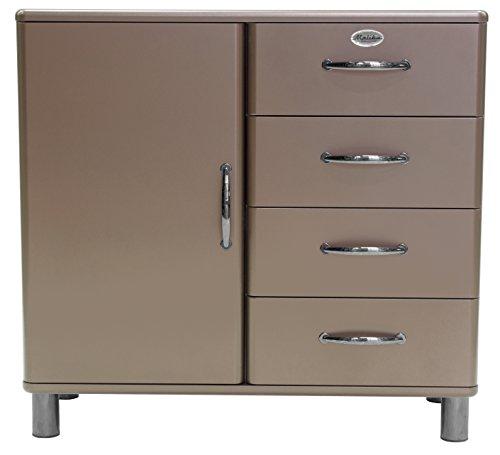 Tenzo 5035-088 Malibu Deluxe Designer Kommode / Sideboard, 92 x 98 x 41 cm, MDF lackiert, bronze metallic