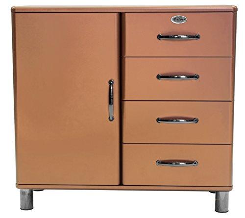 Tenzo 5035-089 Malibu Deluxe Designer Kommode / Sideboard, 92 x 98 x 41 cm, MDF lackiert, kupfer metallic