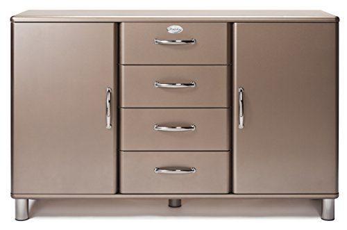 Tenzo 5036-088 Malibu Deluxe - Designer Sideboard, bronze metallic, MDF lackiert, 92 x 146 x 41 cm