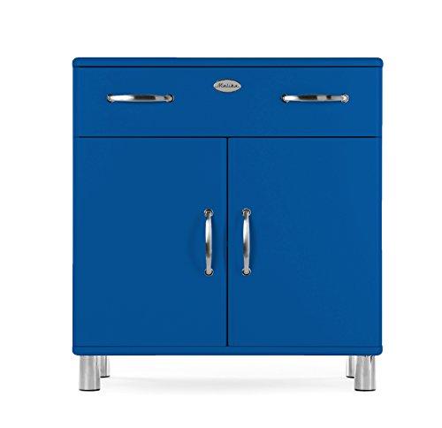 Tenzo 5127-003 Malibu Designer Kommode Holz, blau, 41 x 86 x 92 cm