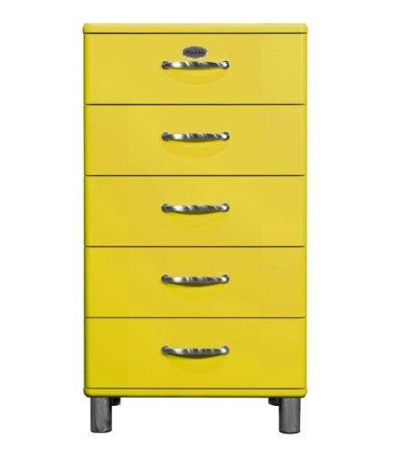Tenzo 5215-002 Malibu, Designer Kommode, 111 x 60 x 41 cm, MDF lackiert, gelb