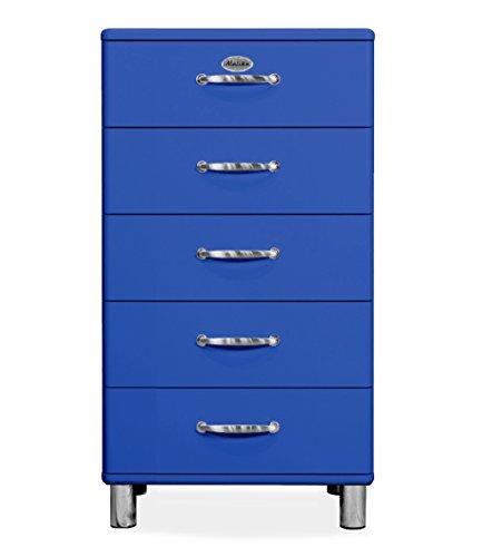 Tenzo 5215-003 Malibu Designer Kommode Holz, blau, 41 x 60 x 111 cm