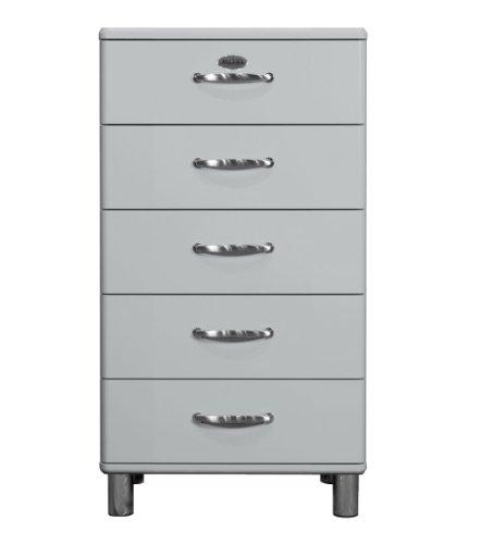 Tenzo 5215-007 Malibu, Designer Kommode, 111 x 60 x 41 cm, MDF lackiert, alu