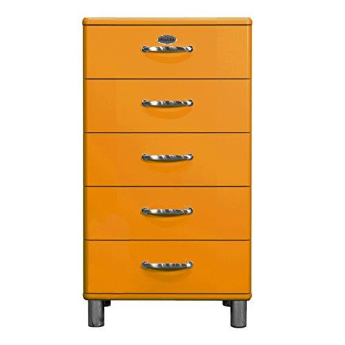 Tenzo 5215-017 Malibu, Designer Kommode, 111 x 60 x 41 cm, MDF lackiert, orange