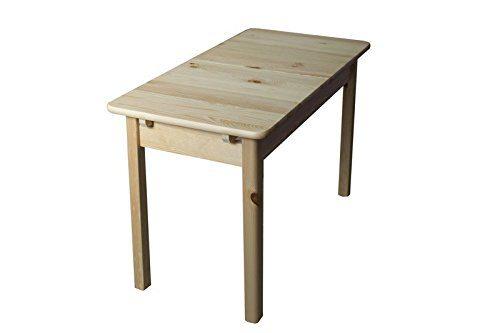 Tisch ausziehbar Kiefer massiv Vollholz natur 008 - Abmessung 75 x 120/170 x 80 cm (H x B x T)