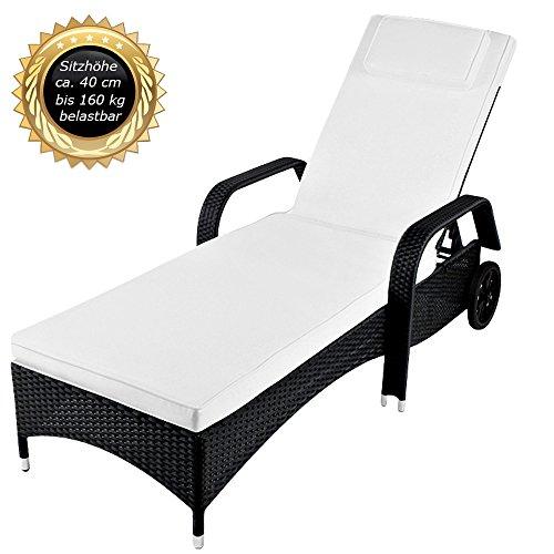toscana liege xxl bis 160 kg belastbar inkl 7 cm dicke auflage mit kopfkissen waschbar. Black Bedroom Furniture Sets. Home Design Ideas