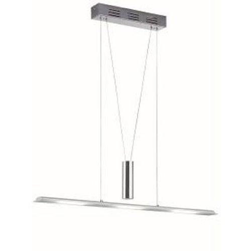trio leuchten 322910306 led jojo pendelleuchte in chrom aluminium glas weiss satiniert. Black Bedroom Furniture Sets. Home Design Ideas