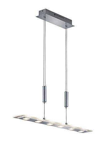 Trio Leuchten LED-JoJo-Pendlleuchte Avenue chrom, Glas klar / satiniert 326310606