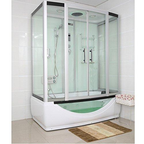 TroniTechnik Dampfdusche Duschtempel Whirlpool Badewanne Komplettdusche Duschkabine Dusche 170x90 weiß