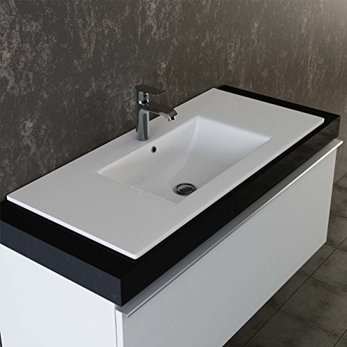VILSTEIN© Keramik Einbau-Waschbecken Einsatz-Waschbecken Waschtisch Becken Handwaschbecken 100 cm